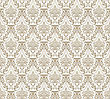 Damask Seamless Pattern. Elegant Design In Royal Baroque Style Background Texture. Floral And Swirl Element. Ideal For Textile Print And Wallpapers.Vector Illustration