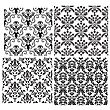 Damask Seamless Vector Backgrounds Set