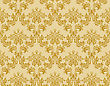 Damask Seamless Vector Pattern stock illustration