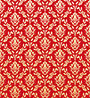 Revival Damask Seamless Vector Pattern stock illustration