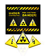Danger Grunge Background With Sign Set Illustration