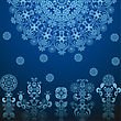 Dark Blue Pattern, Seamless Background stock vector