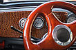 Dashboard In The Car (retro Style stock photography