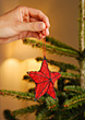 Decorating the Christmas Tree stock photography