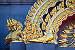 Fragment Decoration With Golden Dragons On The Wall stock photography