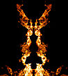 Decorative Figure From Fire stock photo
