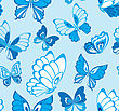 Decorative Graphic Color Seamless Background Pattern With Butterflies