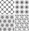 Decorative Graphic Line Art Of A Seamless Background Patterns