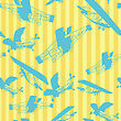 Decorative Layout With Old Planes Silhouettes, Seamless Pattern