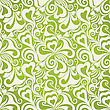 Decorative Olive Curly Seamless Background With Flowers And Hearts