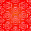 Decorative Ornamental Red Background. Abstract Geometric Retro Pattern