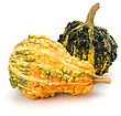 Decorative Pumpkin Isolated On White Background. Halloween And Harvest Symbol stock photography