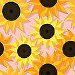Decorative Seamless Background With Sunflowers, Graphic Art stock illustration