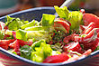 Delicious And Fresh Caesar Salad, Closeup Photo stock photo