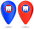 Dentist Icon, Dentist Red Marker, Dentist Red Icon, Dentist Icon Blue, Dentist Marker Blue, Dentist I, Dentist Icon Set, Dentist Icon Isolated On White, Dentist Icon Web, Dentist Icon Art