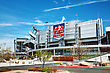 USA DENVER - April 30, 2014: Sports Authority Field At Mile High In Denver On April 30, 2014 In Denver, Colorado. It's A Multi-purpose Arena In Denver, Colorado, United States stock photo