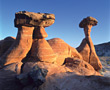 Desert Rock Formations, USA stock image