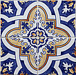 Detail of the traditional tiles (azulejos) from facade of old house in Lisbon, Portugal stock image
