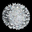 Diamond Sphere With Acute Stalagmites Over Black Background. Other Gems Are In My Portfolio.