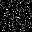 Different Arrows Seamless Pattern On Black. Hand Drawn Symbols
