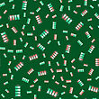 Different Charge Of Battery Seamless Pattern Isolated On Green Background