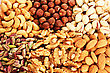 Different Nuts As A Background. stock photography