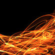 Digital Bright Abstract Fire Background stock image