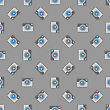 Digital Camera Icon Seamless Pattern On Grey Background