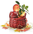 Digital Painting Of Apples In A Basket stock image