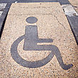 Disabled Sign On The Granite Road stock photography