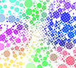 Disco - Colorful Abstract Background Of Circles