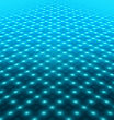 Disco Dance Floor Abstract Blue Background stock photo