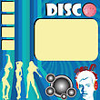 Disco Flyer With Club Girls Silhouettes Dancing And Space For Sample Text