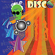 Discoteque Flyer With DJ And Club Girls Silhouettes Dancing On Background