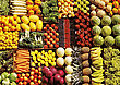 Display Of Various Fruit And Vegetables stock image