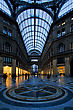 Dome Of The Historical Galleria Umberto Primo In The Centre Of Naples Italy stock photography