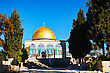 Landmark Dome Of The Rock Mosque In Jerusalem, Israel stock photo