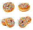 Donuts. Collection stock image