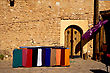 Door Market And Clothes In Tamerza Tunisia stock photography