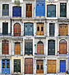 Retro Doors from Paris, France stock photography