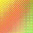 Dots On Yellow Background. Halftone Texture. Halftone Dots. Halftone Effect