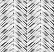 Dotted Zigzag With Dark And Light Dots.Seamless Abstract Geometric Background. Flat Monochrome Design. Pattern Made Of Gray Dots