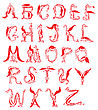 Dragon Alphabet, Fantasy Dragon Font
