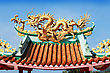 Ancient Architecture Dragon At Kuan Yin Temple stock photography