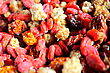 Dried berries exoticmulberry, incaberry and goji berry