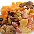 Dried Tropical Fruits Mix ,Close Up stock photography