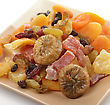 Dried Tropical Fruits Mix In A Dish