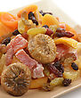 Dried Tropical Fruits Mix In A Dish stock image
