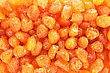 Dried Yellow Cherries Close Up Picture. stock photography