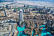 DUBAI, UAE - NOVEMBER 13: Aerial View Of Downtown Dubai With Man Made Lake And Skyscrapers From The Tallest Building In The World, Burj Khalifa, At 828m, Taken On 13 November 2012 In Dubai stock image